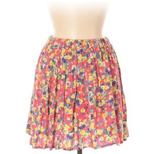 [a37-2] Lily Star   colorful pink floral skirt